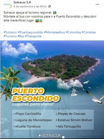 """La escachada de Sotracor S.A. al promocionar sus """"famosos"""" viajes turísticos a Puerto Escondido - Noticias de Colombia"""